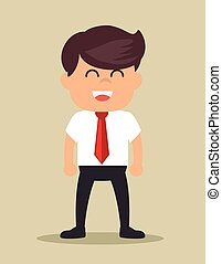 successful businessman happy icon design