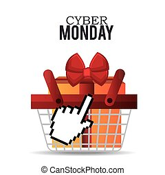 basket gift cyber monday design