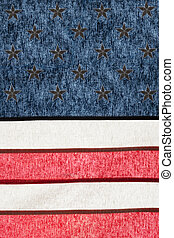 Series of cotton national flags against sun - USA - Flag...
