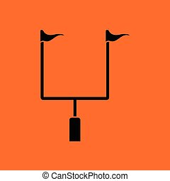 American football goal post icon