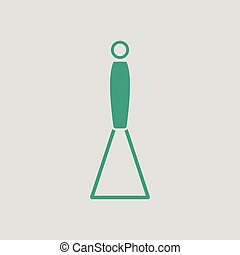 Potato masher icon. Gray background with green. Vector...