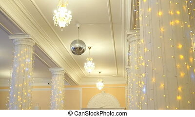 Hall decoration for wedding celebrations indoors - Beautiful...