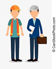 men worker construction helmet icon graphic vector...