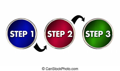Steps 1 2 3 One Two Three Instructions Circles 3d...
