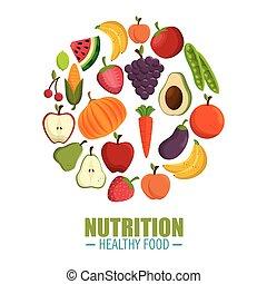nutrition healthy food concept