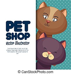 pet shop character cat banner