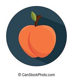 tasty peach fruit healthy vector illustration eps 10