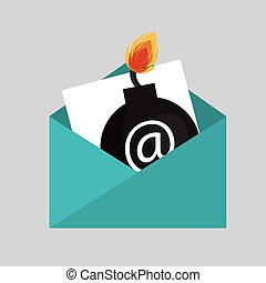 security bomb email envelope icon vecto illustration eps 10