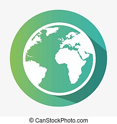 green globe earth environmental eco graphic
