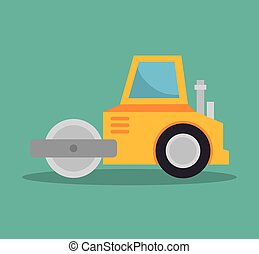 steamroller construction icon design vector illustration eps...