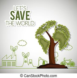 lets save the world ecology factory house bike