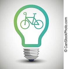bulb ecological bike transport concept