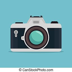 photocamera blue background design graphic - photocamera...