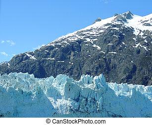 escena, De, glaciar, bahía, Alaska