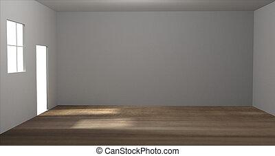 empty room 3D render room