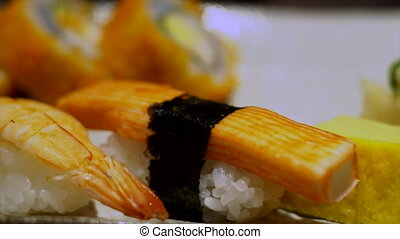 Sushi is famous japanese food.