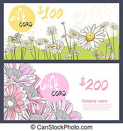 summer flowers on a white background - Delicate gerbera and...