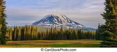 Beautiful Colorful Image of Mount Adams - Amazing Vista of...