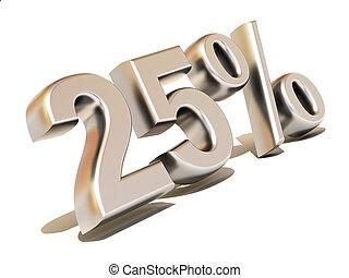 Twenty-five percent. Silver. 3d