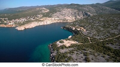Aerial, Coastline In Croatia - Graded and stabilized...