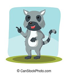 lemur character vector illustration design