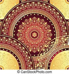 Gold and purple seamless pattern