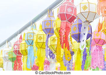 lantern ,Yi Peng Lantern or Thai Northen style lantern - the...
