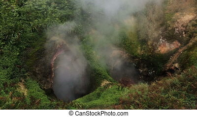 Vrata Ada Gate Hell Geyser in Valley of Geysers. - Vrata Ada...