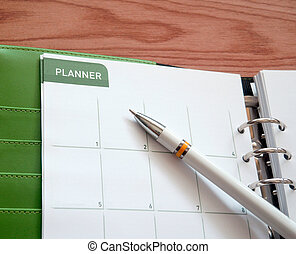Office calendar planner - Personal organizer or planner with...