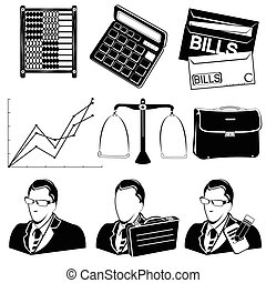 account black icons - Vector illustration of different...