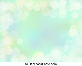 Gradient mint green blank paper background with bokeh border...