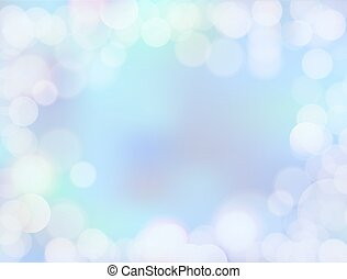 Gradient blue blank paper background with bokeh border - 8K...
