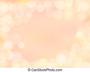 Gradient golden yellow blank paper background with bokeh...