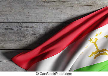 Republic of Tajikistan flag - 3d rendering of Republic of...