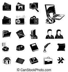 administration black icons - Vector illustration of...