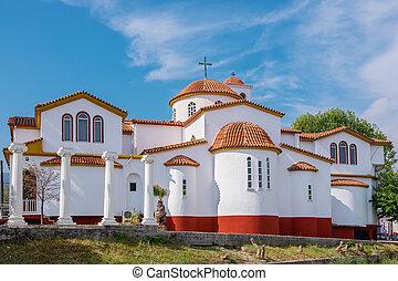 Church of Platamonas. Pieria, Macedonia, Greece - Greek...