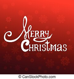 Merry Christmas lettering design message. Red Christmas...