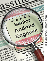 Senior Android Engineer Join Our Team 3D - Loupe Over...