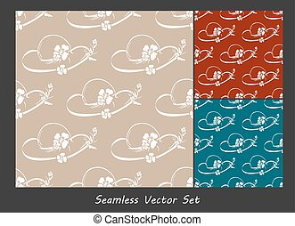 Vector seamless backgrounds