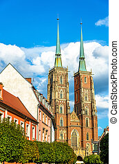 Cathedral of St. John the Baptist in Wroclaw, Poland - The...