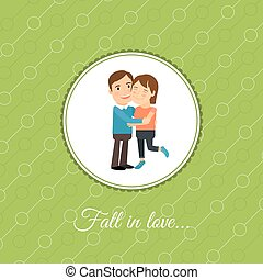 Happy couple in love card