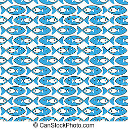 abstract pattern with blue fish - abstract textile or paper...
