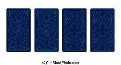 Tarot card reverse side. Classic designs. Vector...