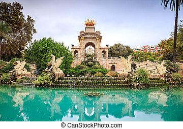 Cascada monumental, Barcelona, Spain - Cascada monumental in...