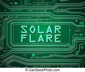 Solar flare concept.
