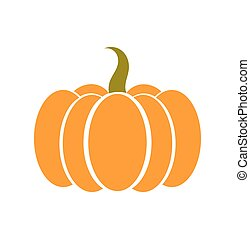 Pumpkin icon vector - Pumpkin icon. Vector illustration