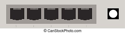 Networking Switch vector image to be used in web...