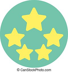 Five Star Product Quality Rating With Reflection