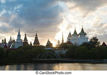 Kremlin near the pond