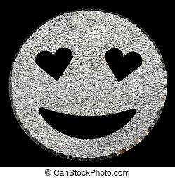 prata, brilhar, sorrindo, rosto, brilhar